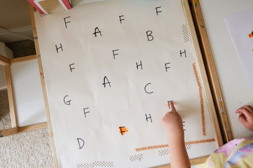 F is for farm letter search activity