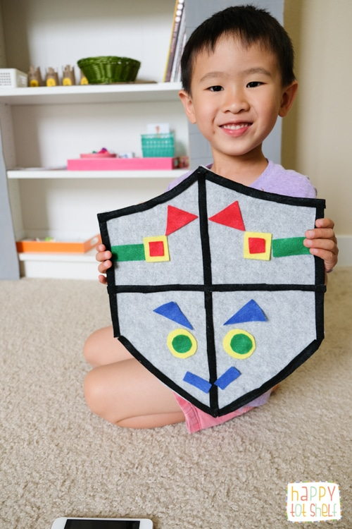 Castle theme symmetry learning activity