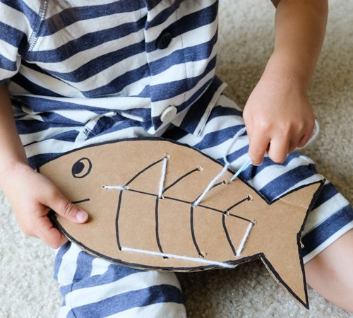 Threading activity for toddlers