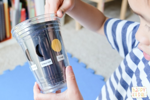 Teaching Moon phases to kids