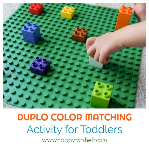 color matching activity with duplo