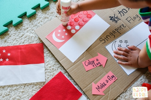 Singapore flag activities for kids