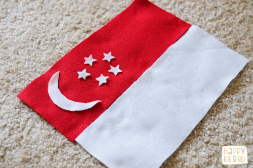 Singapore flag activity for kids