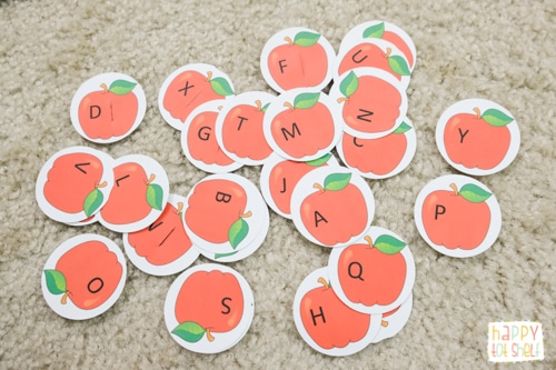 apples letter matching