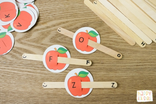 apple theme letter activity