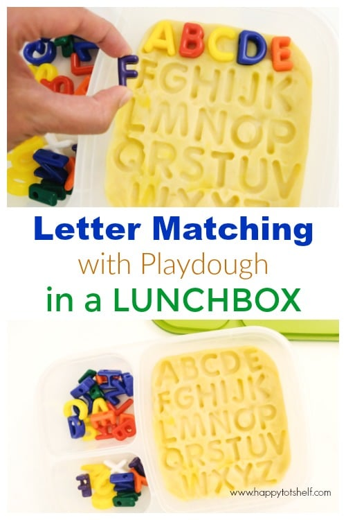 Letter matching activity for kids