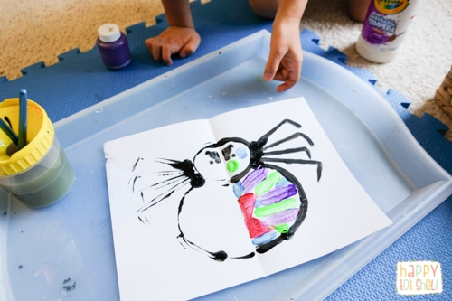 Spider Art Activity for kids