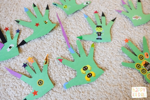 Monster theme craft for kids
