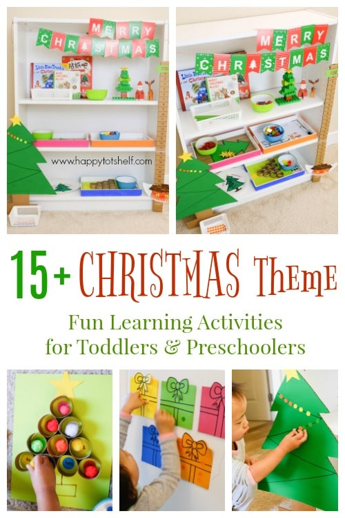 A collection of toddler and preschool Christmas Activities