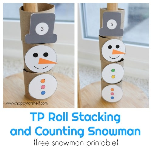 TP roll counting snowman activity