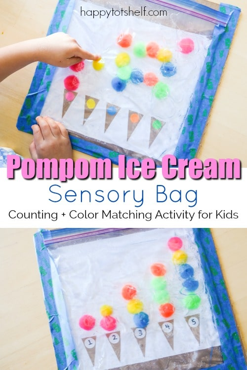 2 in 1 counting and color matching hair gel sensory bag