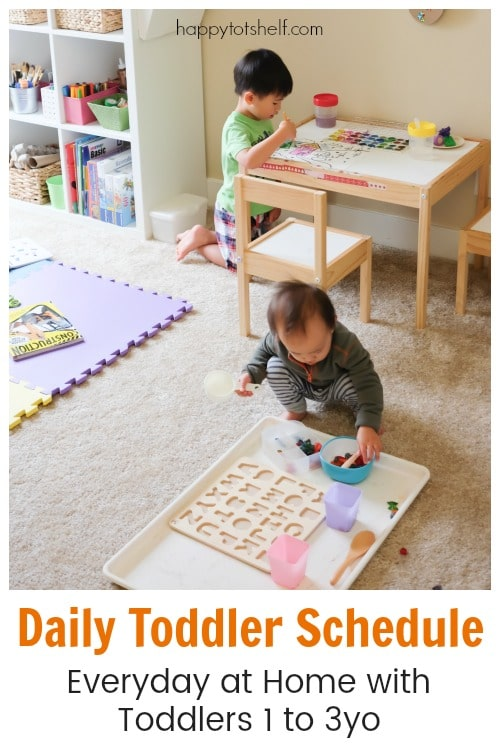 Daily Toddler Schedule - Everyday at Home with toddlers