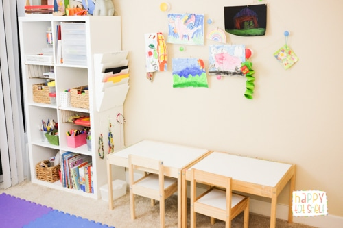 The furnitures in the Learning space for young children