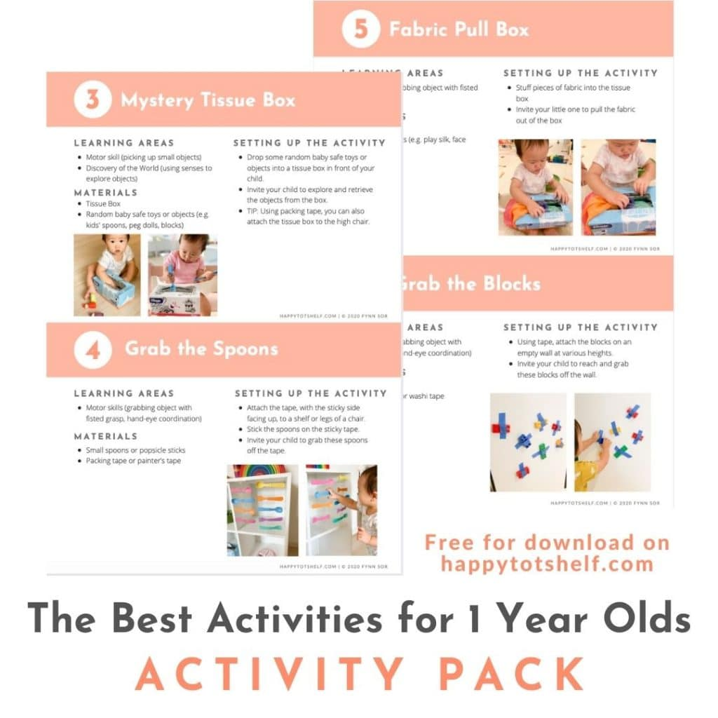 Best Activities for 1 year olds activity pack