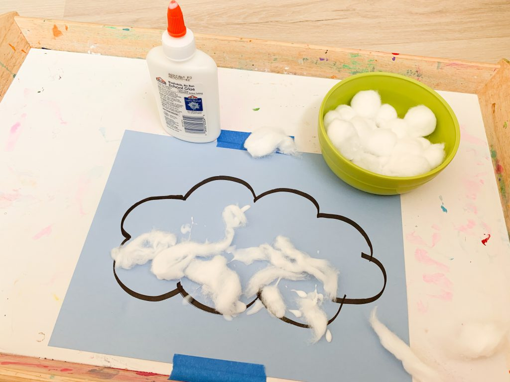 Cloud learning activity for toddlers