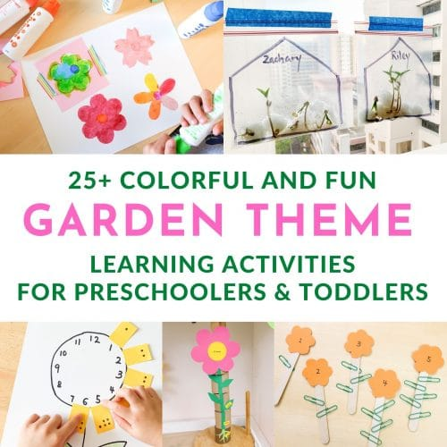 Garden Theme Learning Activities for Kids