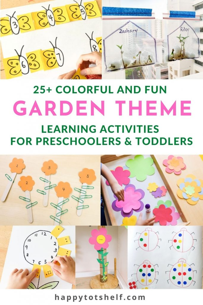 25+ Garden Theme Learning Activities for Preschoolers and Toddlers