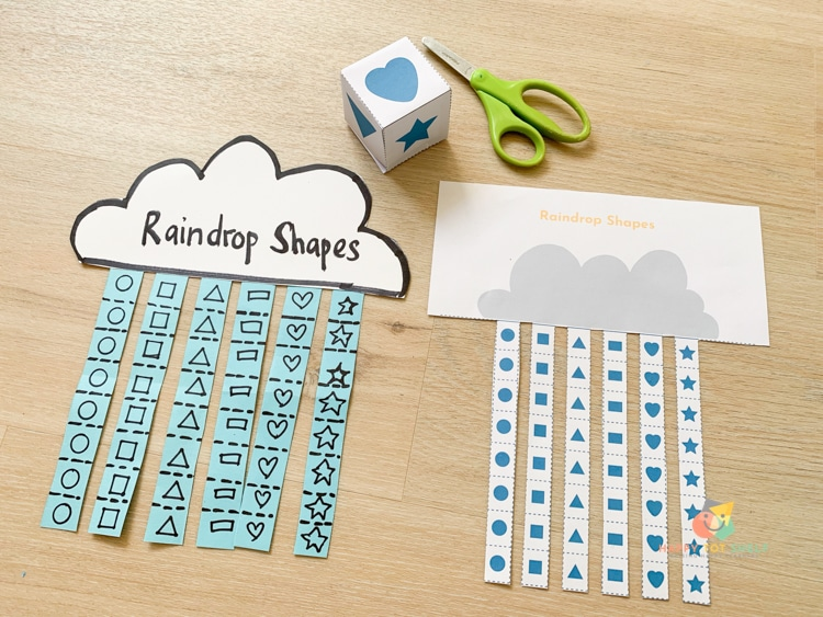preschool Cutting activity with printable