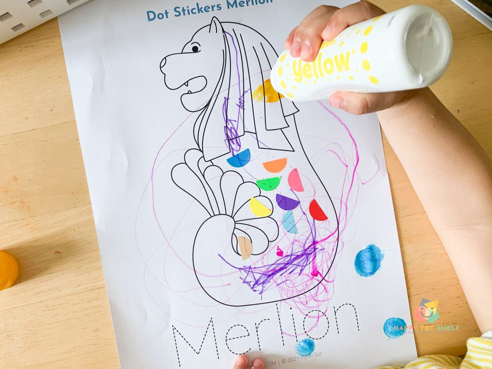 A printable activity for kids to learn about Singapore's Merlion
