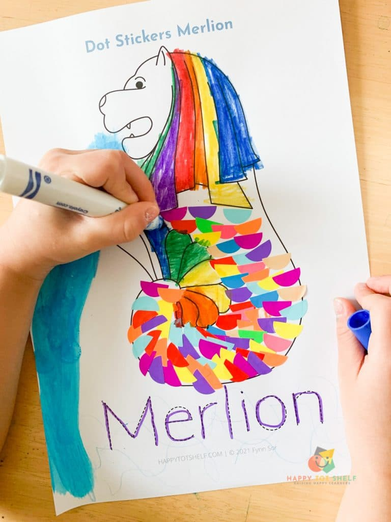 An activity about Singapore's Merlion